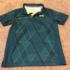 Boys Under Armour button up collared shirt